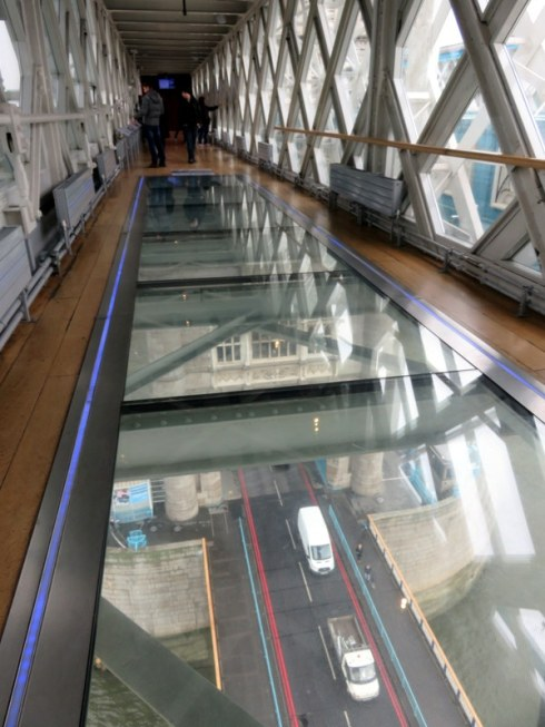 Tower Bridge glass walkway. Worth the climb.