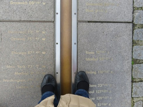 My toes straddling the Prime Meridian.