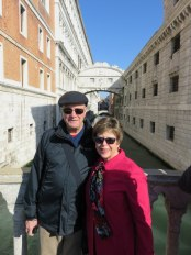 Bridge of Sighs as a background. Not bad.