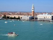 View from San Giorgio Maggiore. I never get tired of going up here. Can you see the mass of people in Piazza San Marco?