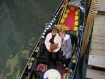 John & Janet enjoy a romantic gondola ride.