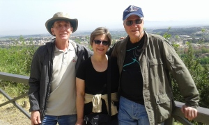 Thanks to Melissa for this nice picture of Bill, me and Ric at Lo Zodiaco, overlooking Rome from the west.