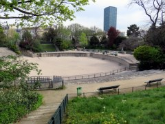 Did you know there are Roman ruins in Paris? The Arènes de Lutèce once held 20,000 spectators. About 1/3 of it is missing and the rest of the seating is now park area.