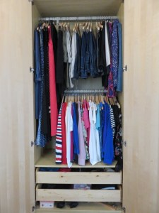 My guardaroba or wardrobe. Much better than a closet.