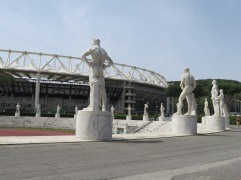 Stadio dei Marmi, with giant statues of athletes.