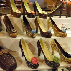 Design week had just ended in Milano. Perhaps that is why this shop displayed chocolate shoes. They were priced from 39-65 Euros.