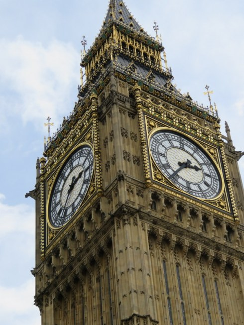 Last unshrouded picture of Big Ben for awhile. The Elizabeth Tower and the clock will undergo extenisve renovation soon.