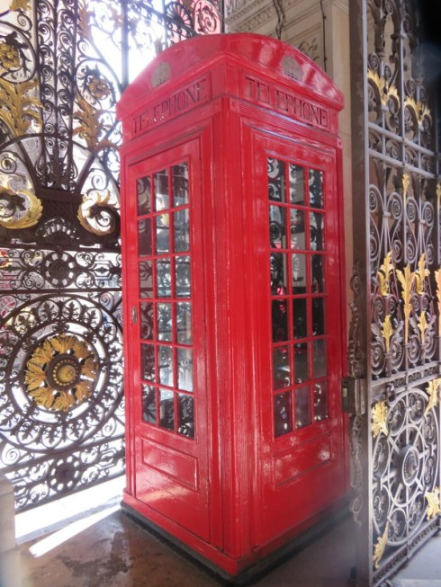 This red telephone box was the model for all the booths to come. Still in pristine condition unlike most of them these days. Near the Royal Academy.