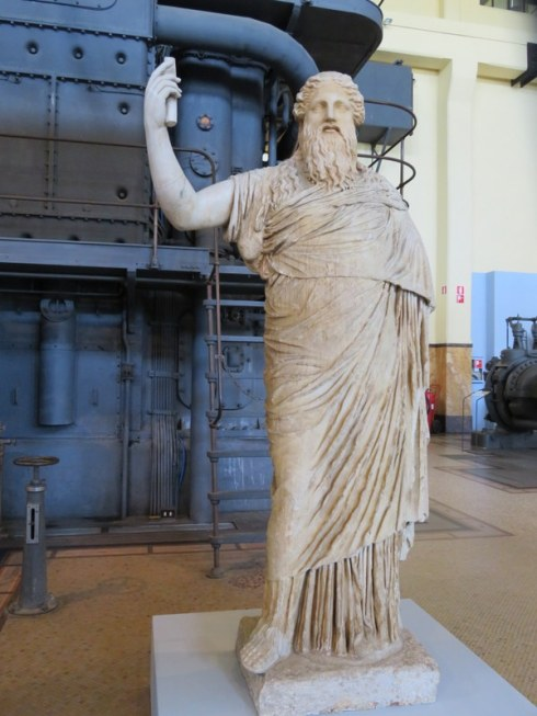 Dionysus, 4th century B.C. I love the juxtapositioning with the industrial site.