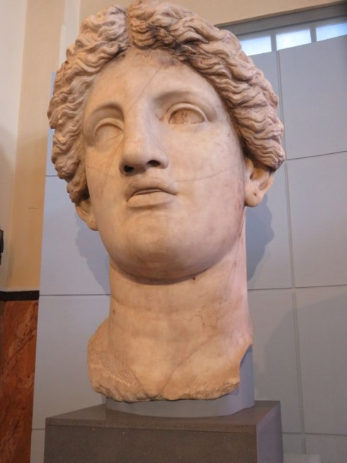 Head of a colossus, female. from 101 B.C....