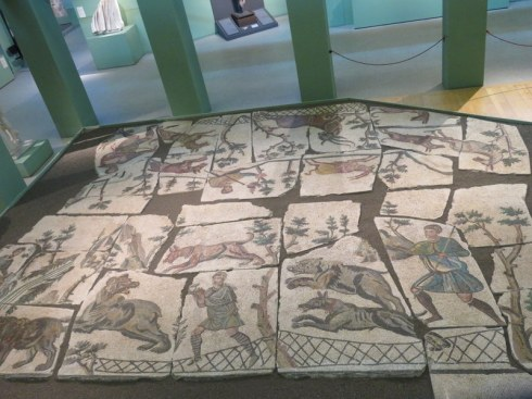 Huge resconstructed mosaic floor at Centrale Montemartini.
