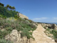 Hiking Cap d'Antibes. Lovely trail here belied what was to come.