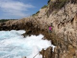 The Cap d'Antibes trail became quite rugged in parts, lots of stairs, and some tricky footing.