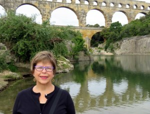 Me at the amazing Pont du Gard. Still standing after 2000 years.
