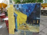In Arles we followed the Vincent Van Gogh trail, where copies of his paintings are placed in the location he painted.