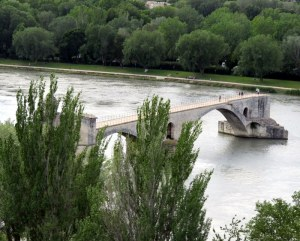 "The bridge to nowhere, that is the ""Pont du Avignon."""