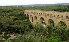 Pont du Gard. This view was well worth the trudge uphill.