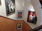 Artwork everywhere at Le Colbert.