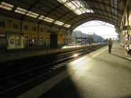 What a French train station looks like early in the morning when there is a strike. A couple of our trains were cancelled.