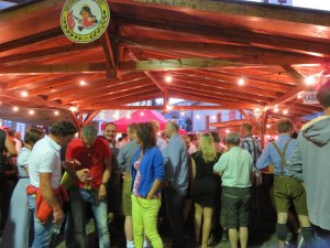 The festival hall/beer tent on Saturday night. Teeming with people of all ages.