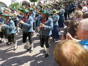 The band, smartly attired in Tyrolean costumes. Our hosts' daughter is one of the flautists.