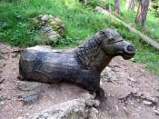 Came across this carved horse on one of our tougher hikes.