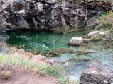 One of the Fairy Pools, an unusual shade of green.