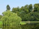 Part of the Studley Royal Water Garden at Fountains Abbey, a post-monastic development.