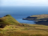 View out to sea from the Quiraing area. Bleak but beautiful. We loved Skye's scenery.