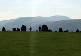 Ric and I in the stone circle. Not as dramatic as Stonehenge but older.