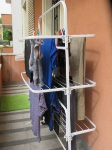"My clothes dryer in summer. In the winter the ""dryer"" is in the second bedroom."