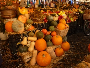 Incredible choice of squash, and the pumpkins--of various kinds--taste amazing, as does everything.