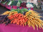 Multi-colored carrots.