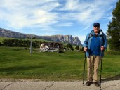 I told Ric this perspective makes him look like he is in a diorama! Taken near Hotel Icaro, Alpe di Siusi.