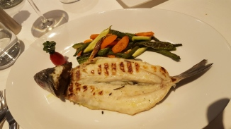 My grilled branzino at La Bula, Bra.