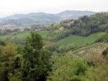 Beyond he city walls, lush landscape of Le Marche.