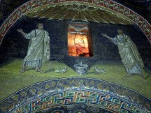 5th Century Mausoleum of Galla Placidia. I like how the alabaster window appears to be on fire.