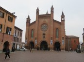 The Cathedral of San Lorenzo, Alba, Very old (12th century exterior) but with interesting modernizations inside.