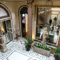A small part of the magnificent winter garden, seen from the grand staircase.