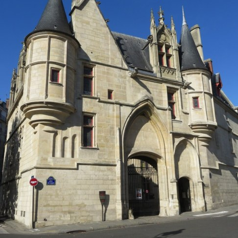 Hôtel de Sens, one of three medieval private residences remaining in Paris. It was built between 1475 and 1507. Largely restored.