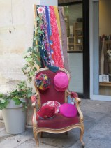Loved this display in a courtyard by the millenery shop. Makes me want to wear hats.