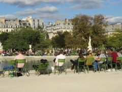 Enjoying the day, Tuileries Garden. I love that there are chairs all over the gardens where people can just relax.