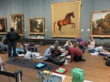 National Gallery: During mid-term break lots of students participating in classes.
