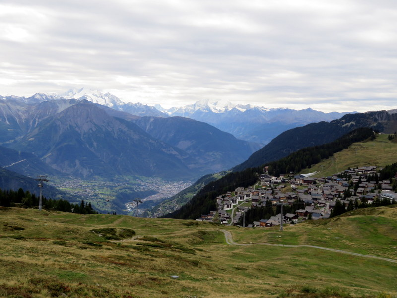 Swiss villag in mountains